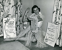 1952 Publicity photo for the YWCA Orchid carnival.