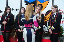Lochgelly High School Exam results<br /> <br /> Shirley-Anne Somerville talk with some of the Lochgelly High students<br /> <br /> (c) David Wardle | Edinburgh Elite media