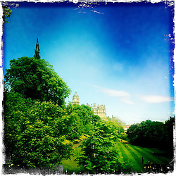 Princes Street Gardens..Hipstamatic images taken on an Apple iPhone..©Michael Schofield.