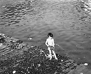 Dingle Regatta.22/08/1976.08/22/1976.22nd August 1976.Photograph of a young boy on the shoreline at the Dingle Regatta