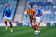George Honeyman of Hull City in action during the EFL Sky Bet League 1 match between Portsmouth and Hull City at Fratton Park, Portsmouth, England on 23 January 2021.