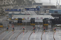 © Licensed to London News Pictures. 21/12/2020. Dover, UK. The Port of Dover remains closed. France is among a number of countries to ban travel from the UK as Covid-19 infections rise dramatically and the possibility of a new mutant strain. Photo credit: Peter Macdiarmid/LNP