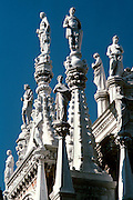 ITALY, VENICE Basilica San Marco (St. Mark's) built in 1063-73 with spires and domes and decorated with statues