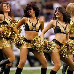 September 9, 2010; New Orleans, LA, USA;  New Orleans Saints Saintsations cheerleaders perform during the third quarter of the NFL Kickoff season opener at the Louisiana Superdome. Mandatory Credit: Derick E. Hingle-US PRESSWIRE