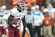AUSTIN, TX - AUGUST 31: /PLAYER of the New Mexico State Aggies ACTION against the Texas Longhorns on August 31, 2013 at Darrell K Royal-Texas Memorial Stadium in Austin, Texas.  (Photo by Cooper Neill/Getty Images) *** Local Caption *** /PLAYER