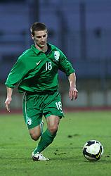 Danijel Marceta (18)  of Slovenia  during Friendly match between U-21 National teams of Slovenia and Romania, on February 11, 2009, in Nova Gorica, Slovenia. (Photo by Vid Ponikvar / Sportida)