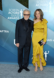 Harvey Keitel and Daphna Kastner at the 26th Annual Screen Actors Guild Awards held at the Shrine Auditorium in Los Angeles, USA on January 19, 2020.