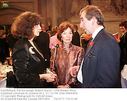 Gail Rebuck, Pat Kavanagh, Robert Harris. 1998 Booker Prize. Guildhall, Gresham St. London EC2. 27/10/98. Film 98880f36<br />© Copyright Photograph by Dafydd Jones<br />66 Stockwell Park Rd. London SW9 0DA<br />Tel 0171 733 0108