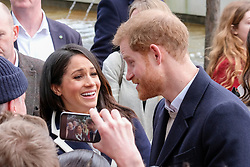 Meghan Markle and Prince Harry visit Birmingham Millenium Point, Birmingham, UK. 08 Mar 2018 Pictured: Meghan Markle and Prince Harry. Photo credit: Squirel/ MEGA TheMegaAgency.com +1 888 505 6342