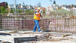 THEMENBILD Baustelle in Wien. Aufgenommen am 24.04.2015 in Wien, Österreich // Construction Site in Vienna, Austria on 2015/04/24. EXPA Pictures © 2015, PhotoCredit: EXPA/ Michael Gruber