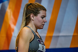 Nicky van Leuveren in action on the 400 meters during limit matches to be held simultaneously with the Dutch Athletics Championships on 13 February 2021 in Apeldoorn