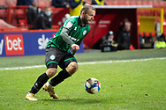 Rochdale's Ryan McLaughlin during the EFL Sky Bet League 1 match between Charlton Athletic and Rochdale at The Valley, London, England on 12 January 2021.