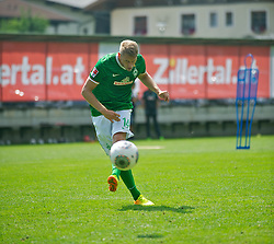 10.07.2013, Parkstadion, Zell am Ziller, AUT, SV Werder Bremen Trainingslager, im Bild Aaron Hunt (Bremen #14) beim Schuss during Trainingsession of German Bundesliga Club SV Werder Bremen at the Parkstadium, Zell am Ziller, Austria on 2013/07/10. EXPA Pictures © 2013, PhotoCredit: EXPA/ Andreas Gumz <br /> <br /> ***** ATTENTION - OUT OF GER *****
