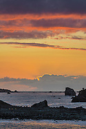 Clouds at sunset over the Pacific Ocean, Crescent City, Del Norte County, California