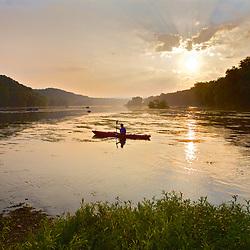 Paddling the Potomac near Point of Rocks