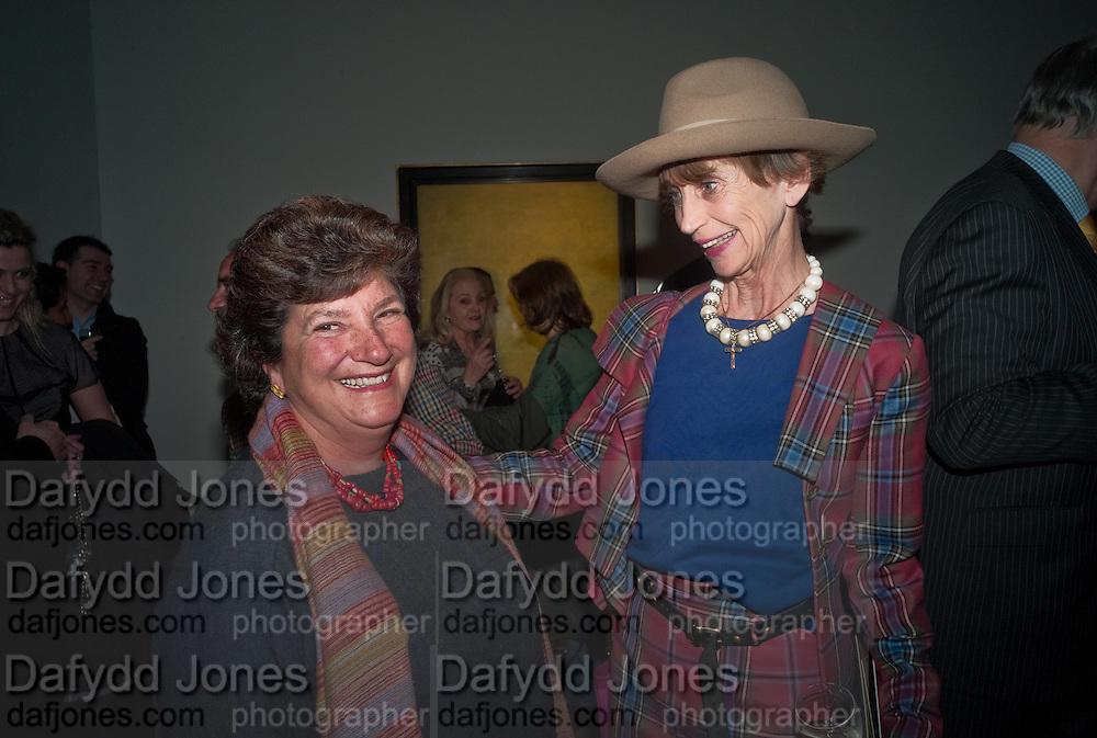 EDWINA SASSOON; LADY HENRIETTA ROUS, Craigie Aitchison - private view<br /> Memorial retrospective, Timothy Taylor Gallery, 15 Carlos Place, London 28 March 2012.