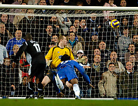 Photo: Ed Godden/Sportsbeat Images.<br />Chelsea v Wigan Athletic. The Barclays Premiership. 13/01/2007. Chelsea's Didier Drogba scores a diving header to make it 4-0.