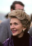 Nancy Reagan arrives at Andrews Air Force Base in December 1980..Photograph by Dennis Brack bb 34