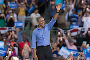 Presidential Campaign Rally with President Obama for Hillary Clinton in Kissimmee, Orlando.<br /> 06-Nov-2016.<br /> <br /> The President of the United States of America, Barack Obama, gives a stiring message to the American people in the Presidential campaign for Hillary Clinton, with less than a week before America decides it's new President.<br /> <br /> At the  Osceola County Stadium, Orlando, Florida, USA.<br /> Picture  Mark Davison / PLPA/ ProLensPhotoAgency.com<br /> Sunday 6th November 2016.