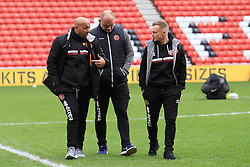 March 16, 2019 - Sunderland, Tyne and Wear, United Kingdom - Walsall manager Dean Keates (right) before the Sky Bet League 1 match between Sunderland and Walsall at the Stadium Of Light, Sunderland on Saturday 16th March 2019. (Credit: Steven Hadlow | MI News) (Credit Image: © Mi News/NurPhoto via ZUMA Press)