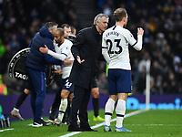 Football - 2019 / 2020 Premier League - Tottenham Hotspur vs. Brighton & Hove Albion<br /> <br /> Tottenham Hotspur Head Coach Jose Mourinho in conversation with Christian Eriksen, at The Tottenham Hotspur Stadium.<br /> <br /> COLORSPORT/ASHLEY WESTERN