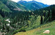 Bayankol River Valley in the Tien Shan mountains, Kazakhstan