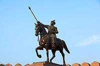 Jganga singh statue junagarh Fort in city of Bikaner rajasthan state in indi