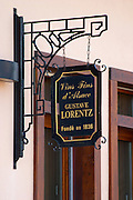 wrought iron sign domaine gustave lorentz ribeauville alsace france