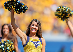 Sep 14, 2019; Morgantown, WV, USA; A West Virginia Mountaineers dancer performs during the third quarter against the North Carolina State Wolfpack at Mountaineer Field at Milan Puskar Stadium. Mandatory Credit: Ben Queen-USA TODAY Sports