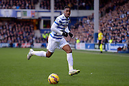 Leroy Fer of QPR in action. Barclays Premier league match, Queens Park Rangers v Manchester Utd at Loftus Road in London on Saturday 17th Jan 2015. pic by John Patrick Fletcher, Andrew Orchard sports photography.