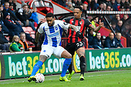 Nathaniel Clyne (23) of AFC Bournemouth puts Jurgen Locadia (9) of Brighton and Hove Albion under pressure during the The FA Cup 3rd round match between Bournemouth and Brighton and Hove Albion at the Vitality Stadium, Bournemouth, England on 5 January 2019.
