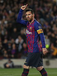 May 1, 2019 - Barcelona, Barcelona, Spain - Messi of Barcelona celebrating a goal during UEFA Champions League football match, between Barcelona and Liverpool, May 01th, in Camp Nou stadium in Barcelona, Spain. (Credit Image: © AFP7 via ZUMA Wire)