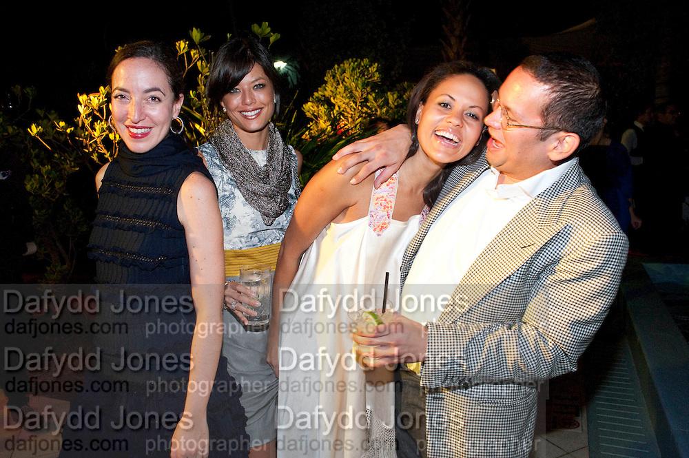 PAMELA GOLBIN; ISABELLA COOPER; RACHEL BARRETT; SANTIAGO GONZALEZ, Jay Jopling hosts a party at Soho House. Miami Beach. Miami art Basel. 30 November 2010. -DO NOT ARCHIVE-© Copyright Photograph by Dafydd Jones. 248 Clapham Rd. London SW9 0PZ. Tel 0207 820 0771. www.dafjones.com.