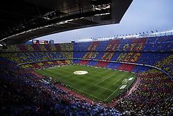 May 6, 2018 - Barcelona, Catalonia, Spain - May 6, 2018 - Camp Nou, Barcelona, Spain - LaLiga Santander- FC Barcelona v Real Madrid CF; Mosaic of FC Barcelona before start the match. (Credit Image: © Marc Dominguez via ZUMA Wire)