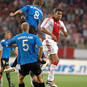 NLD/Amsterdam/20060823 - Ajax - FC Kopenhagen, kopbal Hediwges Maduro en Michael Silberbauer