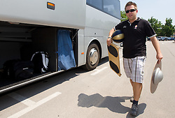 Anze Blazic, PR of Slovenia Basketball national team at departure to Rogla before World Championship in Turkey, on July 10, 2010 at KZS, Ljubljana, Slovenia. (Photo by Vid Ponikvar / Sportida)