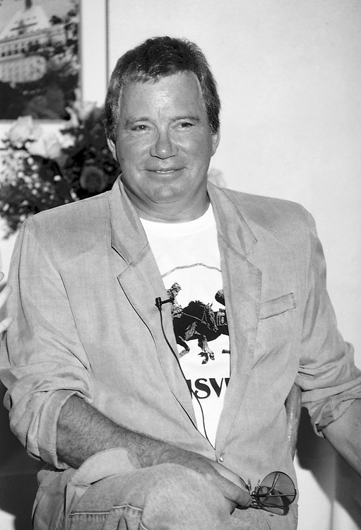 NEW HOPE - JUNE 9: William Shatner speaks during a press conference at The Logan Tavern on June 9, 1992 in New Hope, Pennsylvania. (Photo by Lisa Lake)