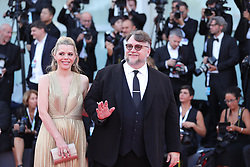 VENICE, Aug. 29, 2018  Competition jury president Guillermo Del Toro (R) and Kim Morgan pose on the red carpet of the 75th Venice International Film Festival in Venice, Italy, Aug. 29, 2018. The 75th Venice International Film Festival kicked off here on Wednesday. (Credit Image: © Cheng Tingting/Xinhua via ZUMA Wire)