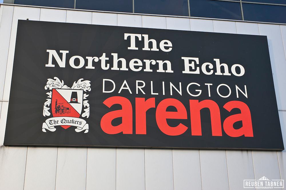 The Northern Echo Darlington Arena, home of Darlington Football Club.