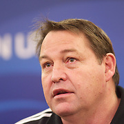 New Zealand assistant coach Steve Hansen during a press conference in Auckland at the IRB Rugby World Cup tournament, Auckland, New Zealand, 20th October 2011. Photo Tim Clayton...
