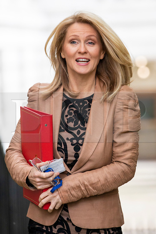 © Licensed to London News Pictures. 24/04/2018. London, UK. Secretary of State for Work and Pensions Esther McVey on Downing Street for the weekly Cabinet meeting. Photo credit: Rob Pinney/LNP