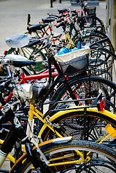 Bicycles parked in the Via Dè Pignattari, Bologna, Italy<br /> <br /> (c) Andrew Wilson | Edinburgh Elite media