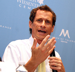 Aug. 14, 2013 - New York, New York, U.S. - Democratic candidate for NYC mayor ANTHONY WEINER attends the New York City Mayoral Forum on.Cultural Sensitivity & Tolerance held at the Museum of Tolerance. (Credit Image: © Nancy Kaszerman/ZUMAPRESS.com)
