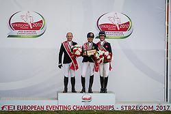 Klimke Ingrid, GER, Jung Michael, Wilson Nicola, GBR<br /> FEI European Eventing Championships Strzegom 2017<br /> © Hippo Foto - Eric Knoll