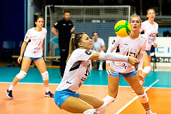 Olivera Brulec Kostic of Calcit Volley during volleyball match between Calcit Volley Kamnik vs LKS Commercecon Lodz in 2nd Round of CEV Champions League 2020/21, on October 14, 2020 in Sportna dvorana, Kamnik, Slovenia. Photo by Matic Klansek Velej / Sportida