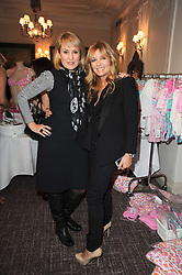 Left to right, NICKI CHAPMAN and AMANDA KYME at a shopping afternoon hosted by Amanda Kyme and Tamara Beckwith featuring designs from Elizabeth Hurley held at the Cadogan Hotel, 75 Sloane Street, London SW1 on 23rd November 2010.