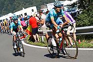 Jakob Fuglsang (DEN - Astana Pro Team), Jesper Hansen (DEN - Astana Pro Team) during the 105th Tour de France 2018, Stage 16, Carcassonne - Bagneres de Luchon (218 km) on July 24th, 2018 - Photo Luca Bettini / BettiniPhoto / ProSportsImages / DPPI
