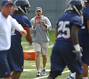Virginia head coach Al Groh during open spring practice for the Virginia Cavaliers football team August 7, 2009 at the University of Virginia in Charlottesville, VA. Photo/Andrew Shurtleff