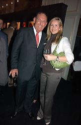 BRIAN CRAWFORD and TV presenter SARAH HEANEY at a party hosted by Ruinart Champagne at Claridges, Brook Street, London on 18th October 2006.<br /><br />NON EXCLUSIVE - WORLD RIGHTS
