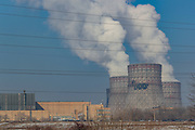 Steam rises from the cooling towers of Metsamor nuclear power station in Armenia on Friday, Jan 22, 2021. It is one of the last old operating Soviet reactors built without containment vessels, its location in a seismic zone has drawn renewed attention since Japan's earthquake-and-tsunami-triggered crisis. Nuclear Engineering International reported on January 18 that Armenia plans to extend the service life of its five-decade-old nuclear power plant in Metsamor after 2026 and has not abandoned plans to build a new plant. (Photo/ Vudi Xhymshiti)